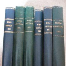 Coleccionismo de Revistas y Periódicos: REVISTA MUNDO CRISTIANO, DESDE Nº 1 1963 A 1968, SEIS TOMOS, BEATLES, MARISOL, DURCAL LOS BRAVOS . Lote 175736352