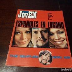 Coleccionismo de Revistas y Periódicos: REVISTA MUNDO JOVEN Nº 30 - ESPAÑOLES EN LUGANO - THE BEATLES SON ASI -POSTER DE GEORGE HARRISON. Lote 175742984