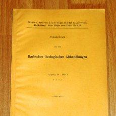 Coleccionismo de Revistas y Periódicos: RÜGER, L. EIN LEBENSBILD VON MAUER (SEPARATA). Lote 175828899