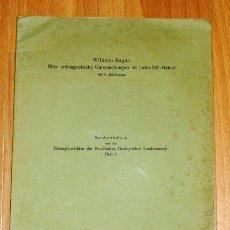 Coleccionismo de Revistas y Periódicos: KEGEL, WILHELM. ÜBER ERDMAGNETISCHE UNTERSUCHUNGEN IM LAHN-DILL-GEBIET (SEPARATA). Lote 175828932