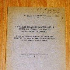 Coleccionismo de Revistas y Periódicos: P.-VOITESTI, I. QUELQUES NOUVELLES DONNÉES SUR LA GENÈSE DU PÉTROLE DES RÉGIONS CARPATHIQUES ROU. Lote 175829057