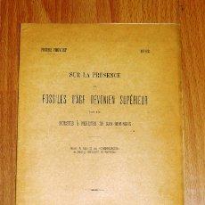 Coleccionismo de Revistas y Periódicos: PRUVOST, PIERRE. SUR LA PRÉSENCE DE FOSSILES D'ÂGE DEVONIEN SUPÉRIEUR DANS LES SCHISTES À NÉRÉ. Lote 175829455