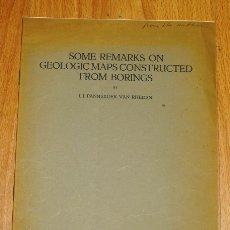 Coleccionismo de Revistas y Periódicos: PANNEKOEK VAN RHEDEN, J.J. SOME REMARKS ON GEOLOGIC MAPS CONSTRUCTED FROM BORINGS (SEPARATA). Lote 175830348