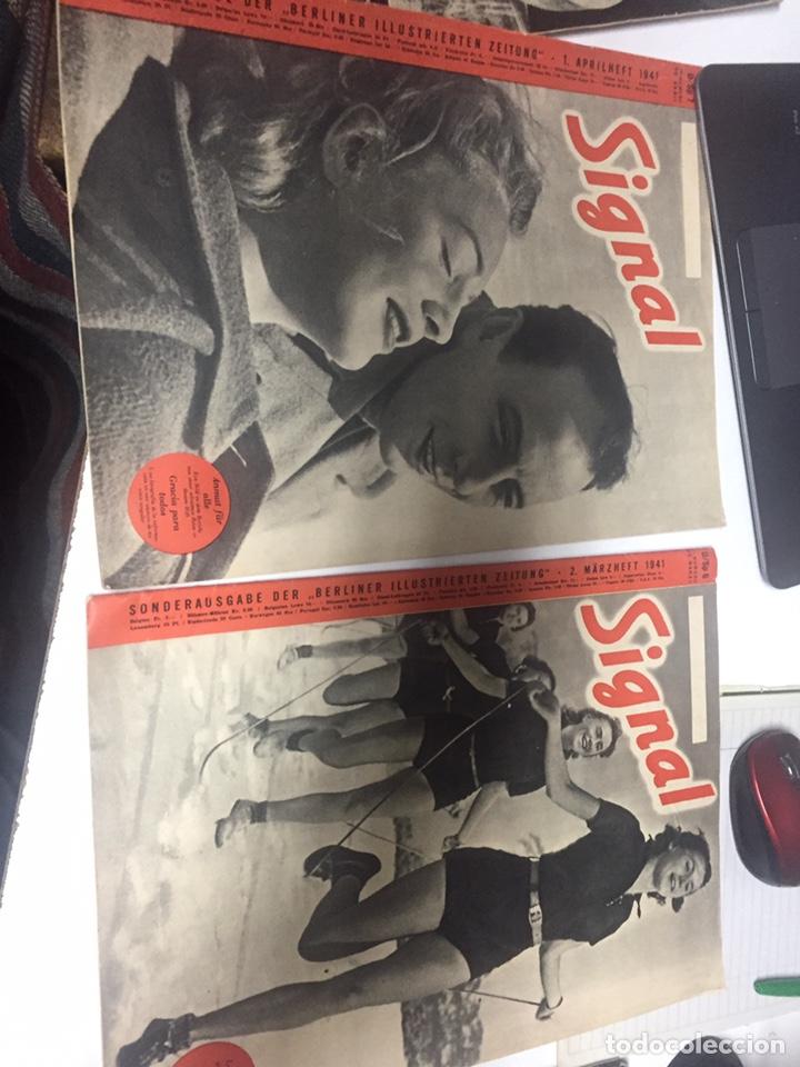 REVISTAS SIGNAL ANTIGUAS AÑO 1941 (Coleccionismo - Revistas y Periódicos Modernos (a partir de 1.940) - Otros)