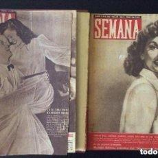 Coleccionismo de Revistas y Periódicos: REVISTA SEMANA AÑO 1945 ,DOS TOMOS ENCUADERNADOS. Lote 175858468