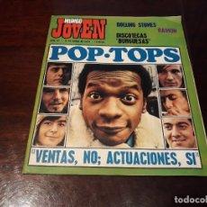 Coleccionismo de Revistas y Periódicos: REVISTA MUNDO JOVEN Nº 67 - ROLLING STONES -POP-TOPS -POSTER DE THE BEATLES. Lote 175916310