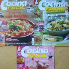 Coleccionismo de Revistas y Periódicos: LOTE 3 REVISTAS COCINA FÁCIL NOS. 103 - 104 - 105. Lote 175968607