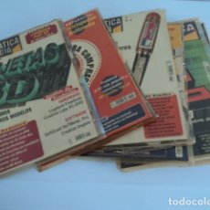 Collectionnisme de Revues et Journaux: MAGNIFICO LOTE 8 REVISTAS INFORMATICA ANTIGUA VINTAGE INFORMATICA FACIL AÑOS 90 CD ROM CONTIENE. Lote 175977902