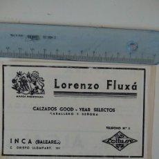 Coleccionismo de Revistas y Periódicos: PUBLICIDAD REVISTA ORIGINAL CIRCA 1938. LORENZO FLUXÁ, FABRICA CALZADOS INCA MALLORCA. Lote 175987572