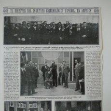 Coleccionismo de Revistas y Periódicos: HOJA REVISTA ORIGINAL ANTIGUA. DIRECTOR INSTITUTO CRIMINOLOGICO ESPAÑOL, FRUCTUOSO CARPENA, AMERICA. Lote 176048290
