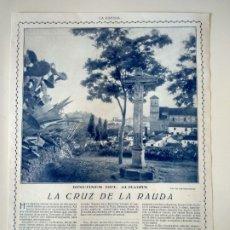 Coleccionismo de Revistas y Periódicos: HOJA REVISTA ORIGINAL CIRCA 1915. RINCONES DEL ALBAIZIN, LA CRUZ DE LA RAUDA. Lote 176051154