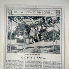 Coleccionismo de Revistas y Periódicos: HOJA REVISTA ORIGINAL CIRCA 1915. DE LA ESPAÑA PINTORESCA, CORTIGOS, POR FEDERICO GARCIA SANCHIZ. Lote 176051305