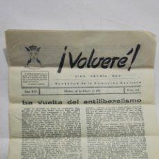 Coleccionismo de Revistas y Periódicos: VOLVERE, DIOS, PATRIA, REY - PORTAVOZ DE LA COMUNION CARLISTA, Nº 215 - FEBRERO 1961. Lote 176073962