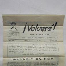 Coleccionismo de Revistas y Periódicos: VOLVERE, DIOS, PATRIA, REY - PORTAVOZ DE LA COMUNION CARLISTA, Nº 213 - DICIEMBRE 1960. Lote 176074663