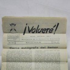 Coleccionismo de Revistas y Periódicos: VOLVERE, DIOS, PATRIA, REY - PORTAVOZ DE LA COMUNION CARLISTA, Nº 214 - ENERO 1961. Lote 176075610