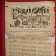 Coleccionismo de Revistas y Periódicos: EL SARRIANES DIFENFOR DEL LOS INTERESES DE SARRIA 1895 N 22 ANO 1. Lote 176096959