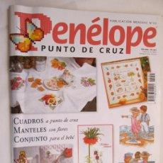 Collezionismo di Riviste e Giornali: REVISTA PENÉLOPE PUNTO DE CRUZ Nº 55 - CON GRÁFICOS - CUADROS, MANTELES BEBÉ.... Lote 176127354