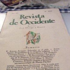 Coleccionismo de Revistas y Periódicos: REVISTA DE OCCIDENTE 1925. PEDRO SALINAS. Lote 176134774