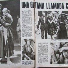 Coleccionismo de Revistas y Periódicos: RECORTE REVISTA SEMANA Nº 1375 1966 CLAUDIA CARDINALE. Lote 176175087