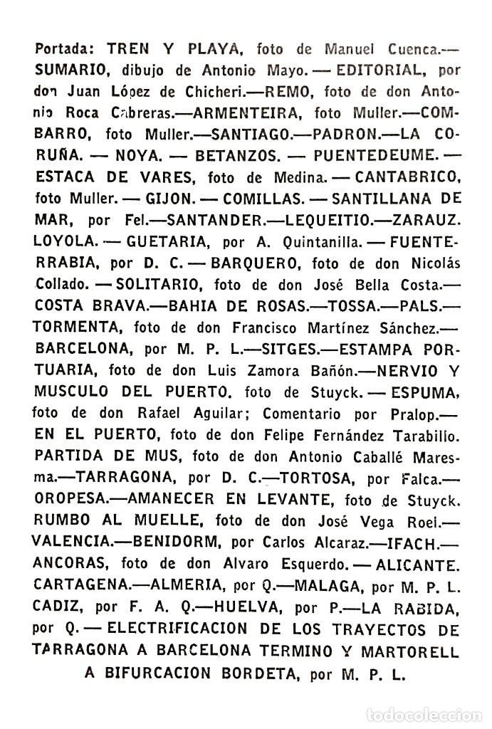 Coleccionismo de Revistas y Periódicos: REVISTA TRENES RENFE Nº 63 1956 / VACACIONES Y ARTE JUNTO AL MAR / FERROCARRILES - Foto 2 - 176187968