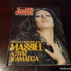 Coleccionismo de Revistas y Periódicos: REVISTA MUNDO JOVEN Nº 108 - MASSIEL , ACTRIZ DRAMATIZADA -POSTER DE MARIA DEL MAR BONET. Lote 176251973