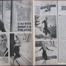 Coleccionismo de Revistas y Periódicos: RECORTE REVISTA SEMANA Nº 1406 1967 MYLENE DEMONGEOT. Lote 176285468