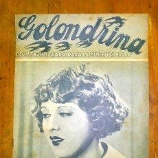 Coleccionismo de Revistas y Periódicos: GOLONDRINA : REVISTA ILUSTRADA PARA LA MUJER Y EL HOGAR. AÑO I, NÚM. 11, 1936 - ANNY ONDRA. Lote 176326975