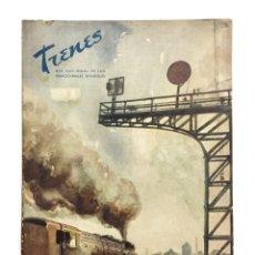 Coleccionismo de Revistas y Periódicos: REVISTA TRENES RENFE Nº 34 INVIERNO 1947 / EXTRAORDINARIO / FERROCARRILES. Lote 176336552