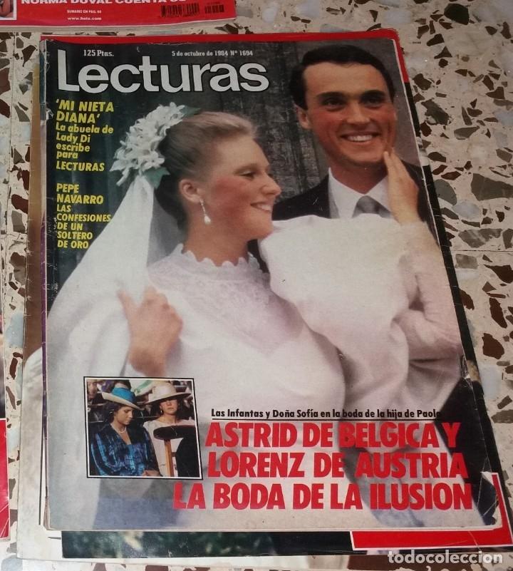 Coleccionismo de Revistas y Periódicos: Revistas del corazón. Boda casa real, lote 5 difs, 1964 a 2004 (Infanta Pilar, Claudia Francia, etc) - Foto 3 - 147623778