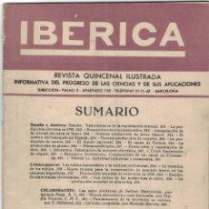 Coleccionismo de Revistas y Periódicos: REVISTA IBÉRICA Nº 230 AÑO 1952. Lote 176444509
