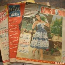Coleccionismo de Revistas y Periódicos: 3 REVISTAS EL HOGAR Y LA MODA. Lote 176466735