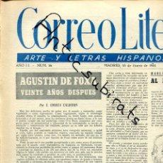 Coleccionismo de Revistas y Periódicos: PERIODICO CORREO LITERARIO ARTE Y LETRAS HISPANOAMERICANAS AÑO 1951 AGUNTIN DE FOXA PAUL CLAUDEL . Lote 176472077