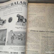 Coleccionismo de Revistas y Periódicos: ANTIGUO TOMO EPOCA REPUBLICA DE LA REVISTA PANADERIA NACIONAL Y PANADERIA ESPAÑOLA - DESDE 1933. Lote 176497762