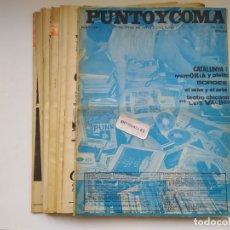 Coleccionismo de Revistas y Periódicos: LOTE DE 11 REVISTAS PUNTO Y COMA-PRIMEROS NUMEROS-AÑO 78.ARTE CULTURA.. Lote 176499862