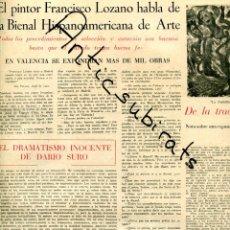 Coleccionismo de Revistas y Periódicos: PERIODICO 1951 BIENAL FRANCISCO LOZANO DARIO SURO GABRIELA MISTRAL REPUBLICA DOMINICANA M DEL CABRAL. Lote 176519679