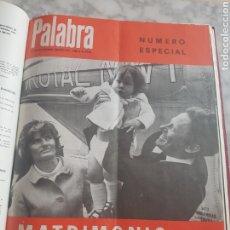 Coleccionismo de Revistas y Periódicos: LOTE REVISTAS RELIGIOSA PALABRA TODO EL AÑO 1969 ENCUADERNADA. Lote 176620127