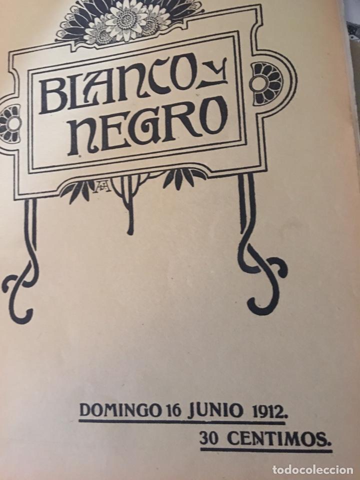 BLANCO Y NEGRO - REVISTA ILUSTRADA - NUMERO 1101 - JUNIO 1912 (Coleccionismo - Revistas y Periódicos Antiguos (hasta 1.939))
