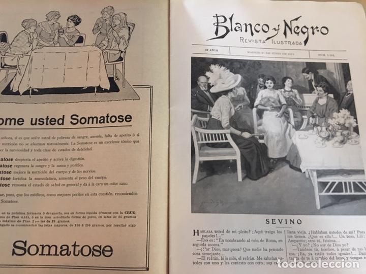 Coleccionismo de Revistas y Periódicos: BLANCO Y NEGRO - REVISTA ILUSTRADA - NUMERO 1102 - JUNIO 1912 - Foto 2 - 176666174