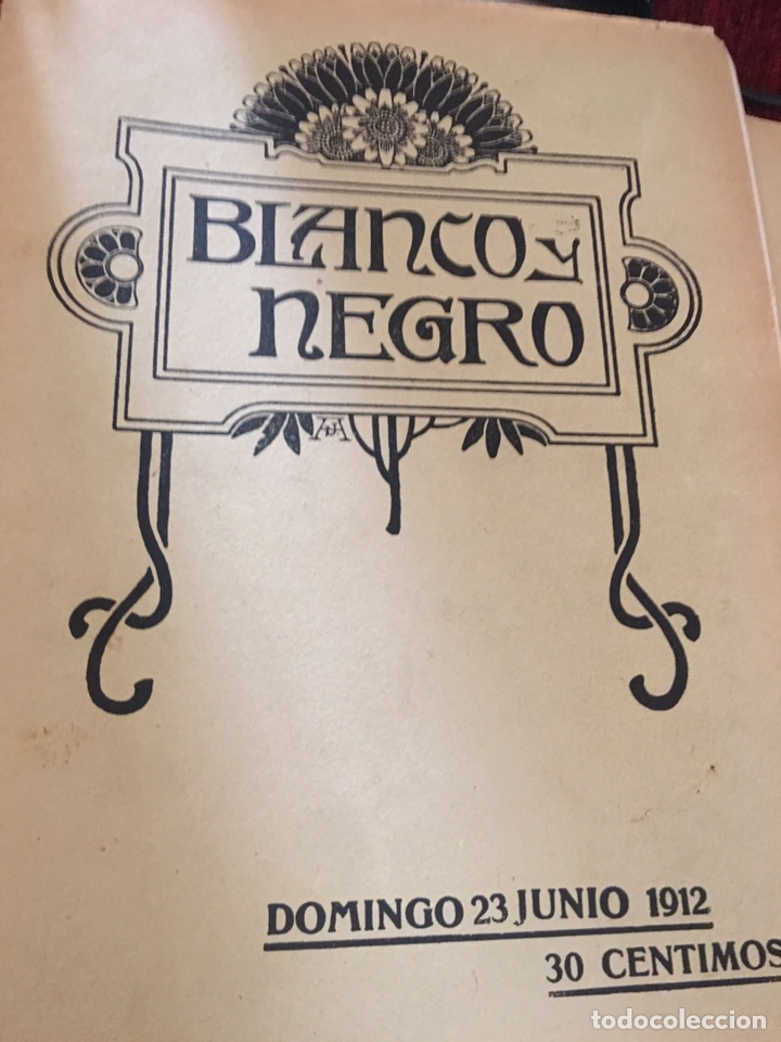 BLANCO Y NEGRO - REVISTA ILUSTRADA - NUMERO 1102 - JUNIO 1912 (Coleccionismo - Revistas y Periódicos Antiguos (hasta 1.939))