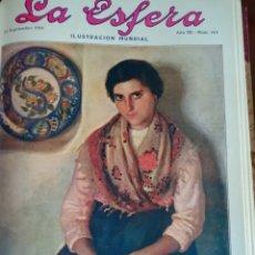 Coleccionismo de Revistas y Periódicos: LA ESFERA 1916 Nº 144 CATEDRAL DE SIGUENZA - MUJERES DE JORGE SAND -ALBAICIN(GRANADA). Lote 176667953