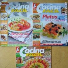 Coleccionismo de Revistas y Periódicos: LOTE 3 REVISTAS COCINA FÁCIL NOS. 107 - 120 - 133. Lote 176682404