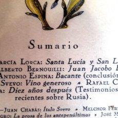 Coleccionismo de Revistas y Periódicos: FEDERICO GARCIA LORCA - 1927 - SANTA LUCÍA Y SAN LÁZARO - REVISTA DE OCCIDENTE. Lote 176731757