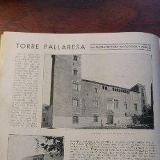 Coleccionismo de Revistas y Periódicos: TORRE PALLARESA BADALONA PABLO GUSTAVO DORE BILBAO LAMIACO PLASENCIA DE ARMAS EIBAR BUEYES AÑO 1932. Lote 176845875