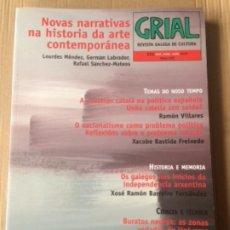 Colecionismo de Revistas e Jornais: GRIAL 222. TOMO LVII 2019. REVISTA GALEGA DE CULTURA. EDITORIAL GALAXIA.. Lote 191656645