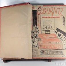 Coleccionismo de Revistas y Periódicos: DIARIO SEMANAL, LA CODORNIZ. 50 EJEMPLARES EN I TOMO. A. DE LAIGLESIA. MADRID. 1963.. Lote 176903443