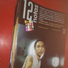 Coleccionismo de Revistas y Periódicos: LOTE DE 15 NUMEROS DE LA REVISTA DE MÚSICA Y DANZA 12 NOTAS. Lote 176927055
