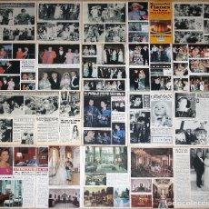 Coleccionismo de Revistas y Periódicos: GRACE KELLY MONACO LOTE PRENSA 1960S/80S SPAIN CLIPPINGS PHOTOS MAGAZINE ARTICLES CAROLINE GRACIA. Lote 112134595
