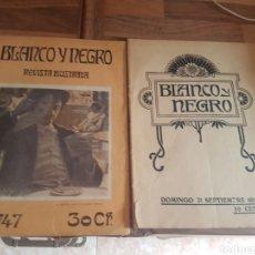 Coleccionismo de Revistas y Periódicos: LOTE 2 REVISTAS BLANCO Y NEGRO. Lote 176970552