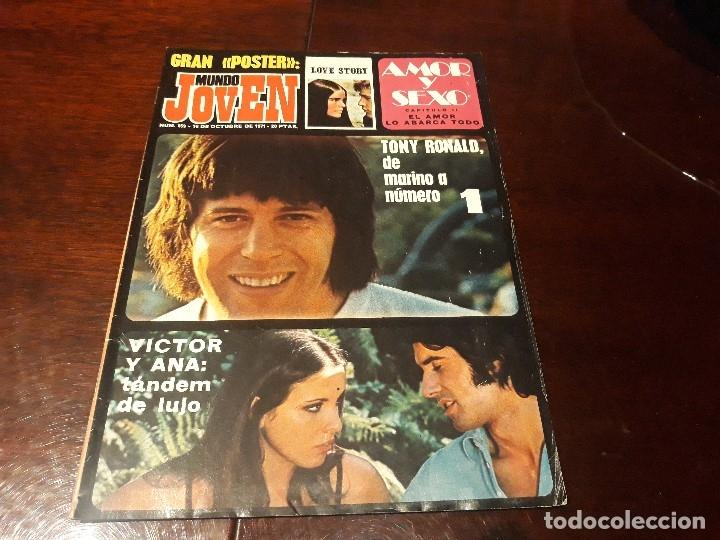 REVISTA MUNDO JOVEN Nº 159 - TONY RONALD - VICTOR MANUEL Y ANA BELEN - POSTER DE LOVE STORY (Coleccionismo - Revistas y Periódicos Modernos (a partir de 1.940) - Otros)