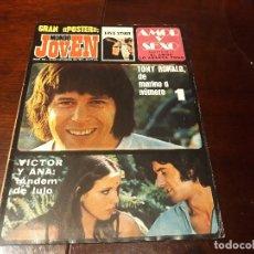 Coleccionismo de Revistas y Periódicos: REVISTA MUNDO JOVEN Nº 159 - TONY RONALD - VICTOR MANUEL Y ANA BELEN - POSTER DE LOVE STORY. Lote 176975867